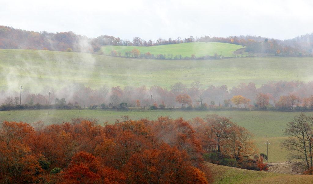 Paysage collines du Chianti